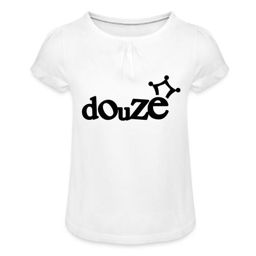 logo_douze - T-shirt à fronces au col Fille