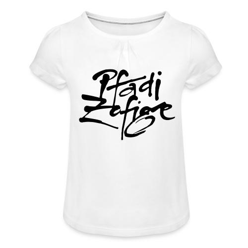 pfadi zofige - Mädchen-T-Shirt mit Raffungen
