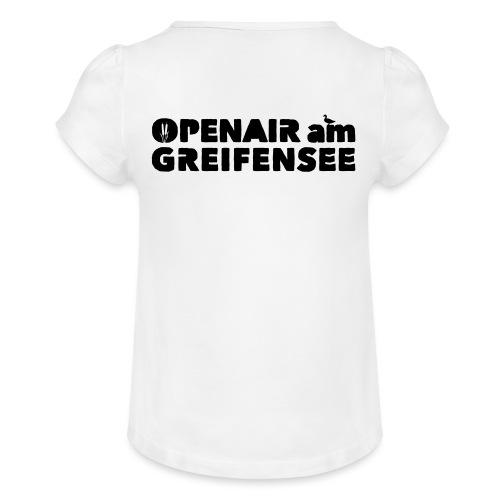 Openair am Greifensee 2018 - Mädchen-T-Shirt mit Raffungen