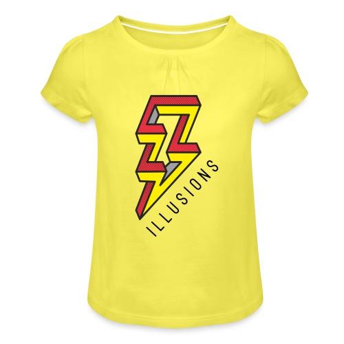 ♂ Lightning - Mädchen-T-Shirt mit Raffungen