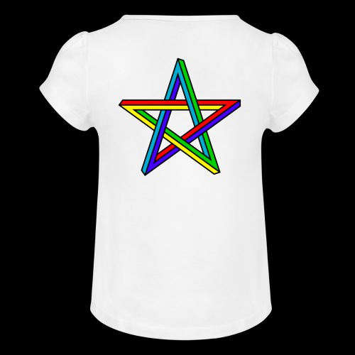 SONNIT STAR - Girl's T-Shirt with Ruffles