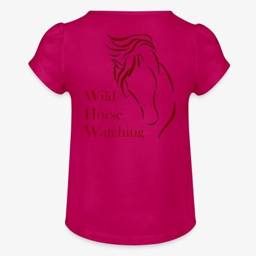 Logo Aveto Wild Horses - Maglietta da ragazza con arricciatura