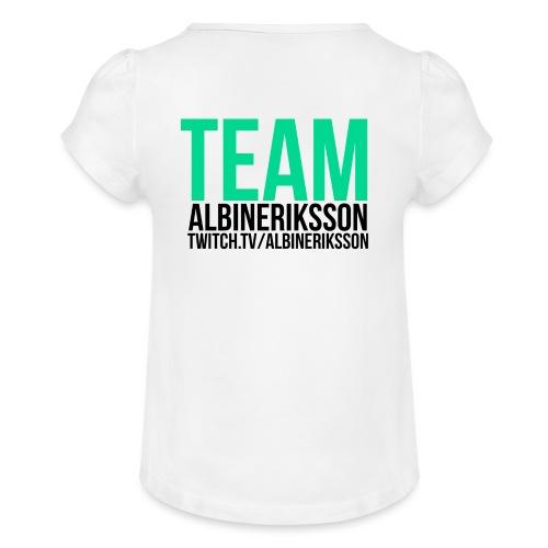 Team albinerikss0n Svart - T-shirt med rynkning flicka