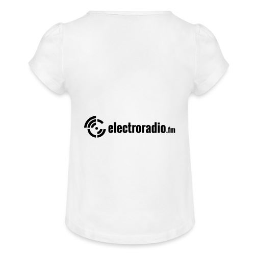 electroradio.fm - Girl's T-Shirt with Ruffles