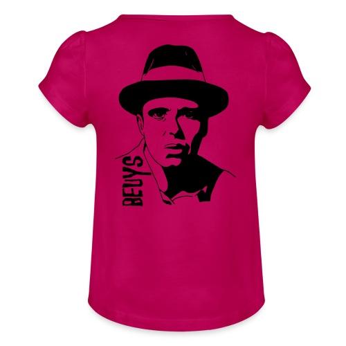 Joseph Beuys - Mädchen-T-Shirt mit Raffungen