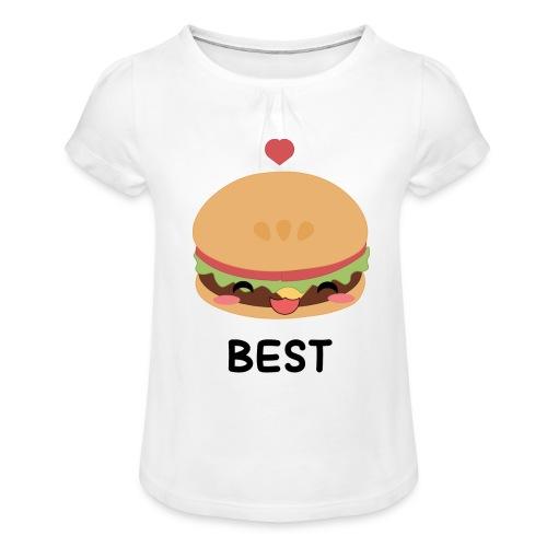 hamburger - Maglietta da ragazza con arricciatura
