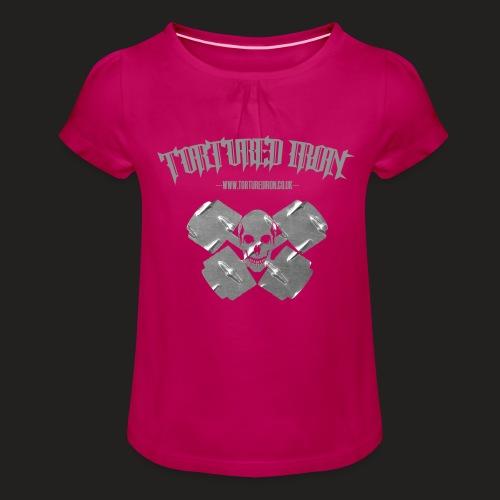 skull - Girl's T-Shirt with Ruffles