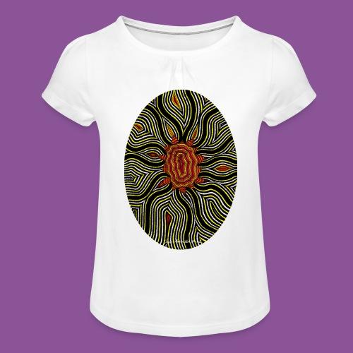 Aura 11 - Mädchen-T-Shirt mit Raffungen
