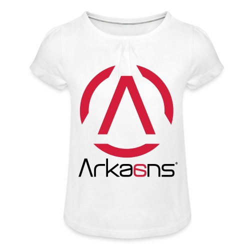 Arkaans Global - T-shirt à fronces au col Fille
