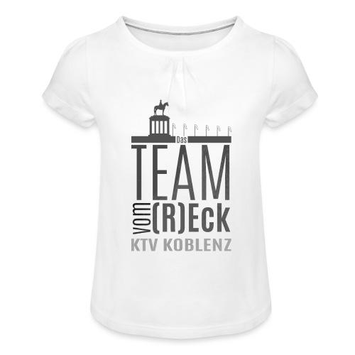 Shirt_Logo_2016_grau - Mädchen-T-Shirt mit Raffungen