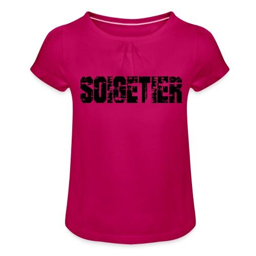 logo bad1 - Mädchen-T-Shirt mit Raffungen