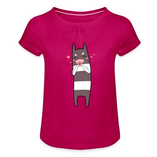 Donut Monster - Girl's T-Shirt with Ruffles