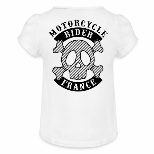 Motorcycle Rider France - T-shirt à fronces au col Fille
