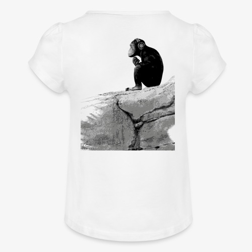 Music Monkey - Girl's T-Shirt with Ruffles