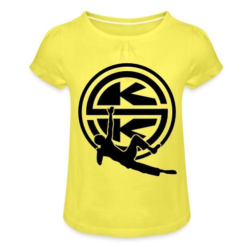 SKK_shield - T-shirt med rynkning flicka