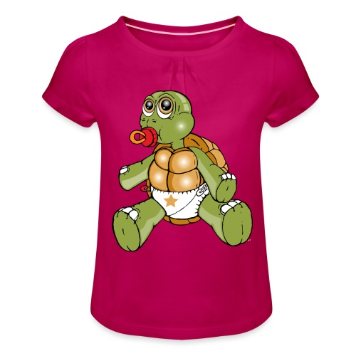 TURTLE TODDLER - Girl's T-Shirt with Ruffles