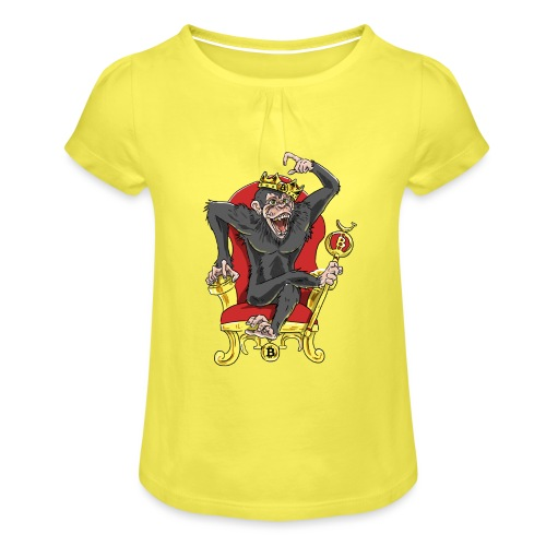 Bitcoin Monkey King - Beta Edition - Mädchen-T-Shirt mit Raffungen