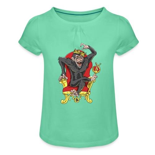 Bitcoin Monkey King - Beta Edition - Mädchen-T-Shirt mit Raffungen
