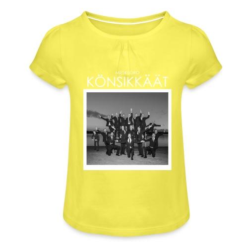Könsikkäät - joulu saarella - Tyttöjen t-paita, jossa rypytyksiä