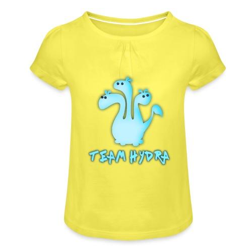Team Hydra - T-shirt med rynkning flicka