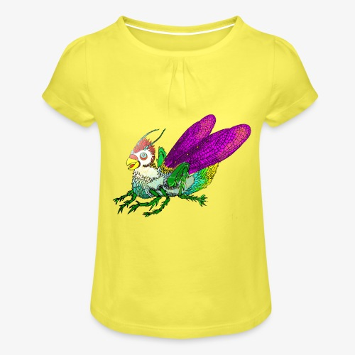 Chicken-Hopper - Meisjes-T-shirt met plooien