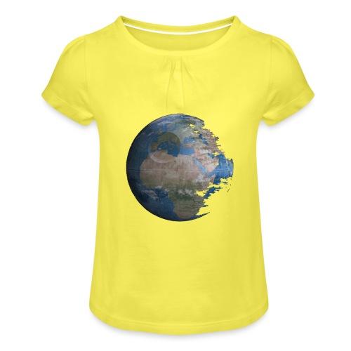 Death Earth - T-shirt à fronces au col Fille