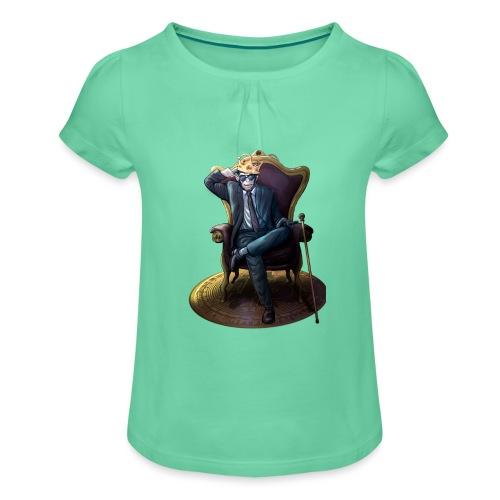 Bitcoin Monkey King - Gamma Edition - Mädchen-T-Shirt mit Raffungen