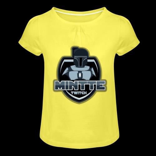 Mintte - Mädchen-T-Shirt mit Raffungen
