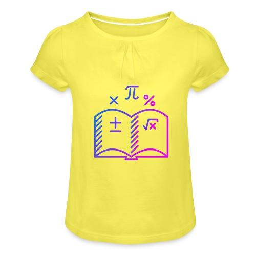 Wiskunde Boek - Meisjes-T-shirt met plooien