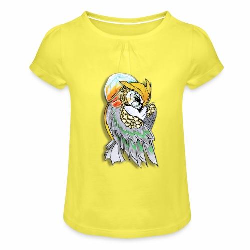 Cosmic owl - Camiseta para niña con drapeado