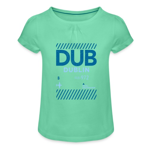 Dublin Ireland Travel - Girl's T-Shirt with Ruffles