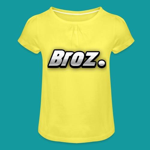 Broz. - Meisjes-T-shirt met plooien