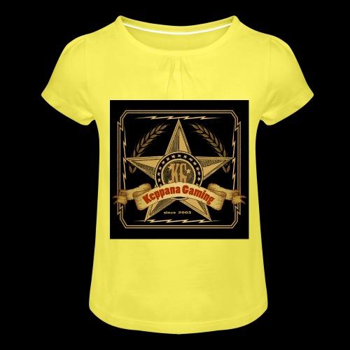 etiketti - Tyttöjen t-paita, jossa rypytyksiä