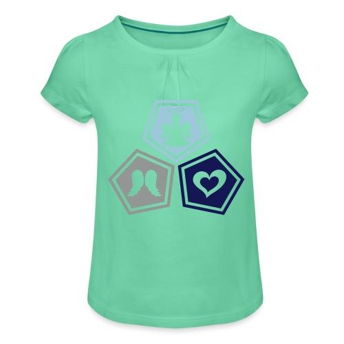Tee shirt baseball Enfant Trio ange, ailes d'ange - Girl's T-Shirt with Ruffles