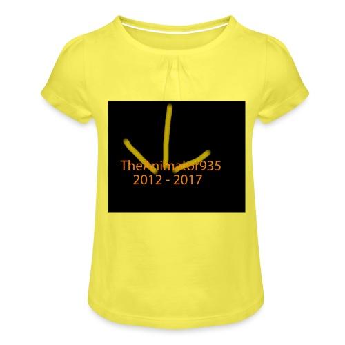 TheAnimator935 Logo - Girl's T-Shirt with Ruffles