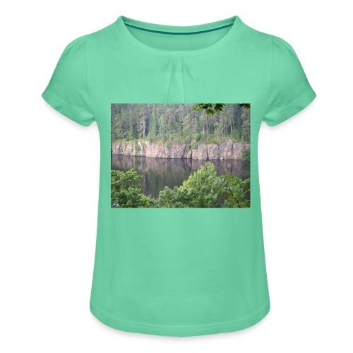 Laatokan maisemissa - Tyttöjen t-paita, jossa rypytyksiä