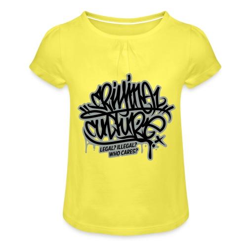 Criminal Culture - Mädchen-T-Shirt mit Raffungen