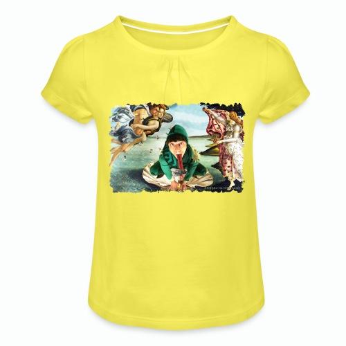 Botticelli - Maglietta da ragazza con arricciatura