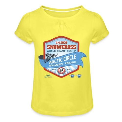 MM Snowcross 2020 virallinen fanituote - Tyttöjen t-paita, jossa rypytyksiä
