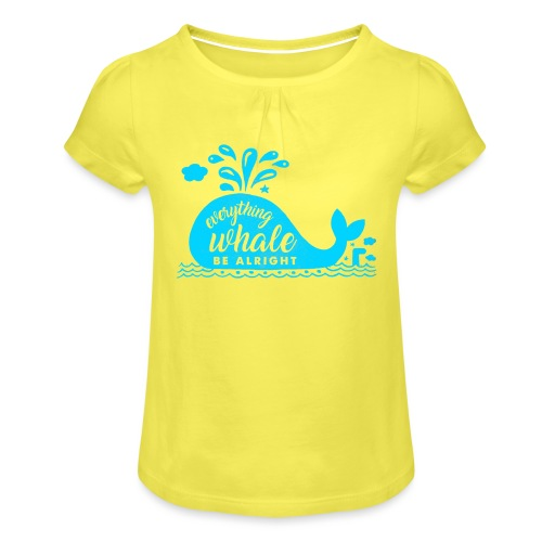 Everything Whale Be Alright - T-shirt à fronces au col Fille
