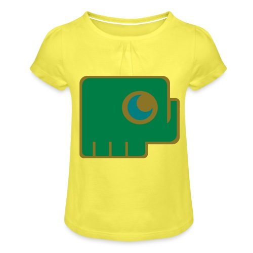 Elefant - Girl's T-Shirt with Ruffles