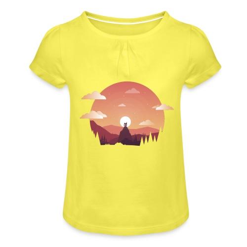 Monte Sagrado - Camiseta para niña con drapeado
