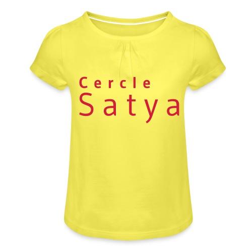Cercle Satya - T-shirt à fronces au col Fille