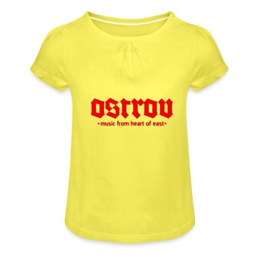 ostrov red 2 - Koszulka dziewczęca z marszczeniami