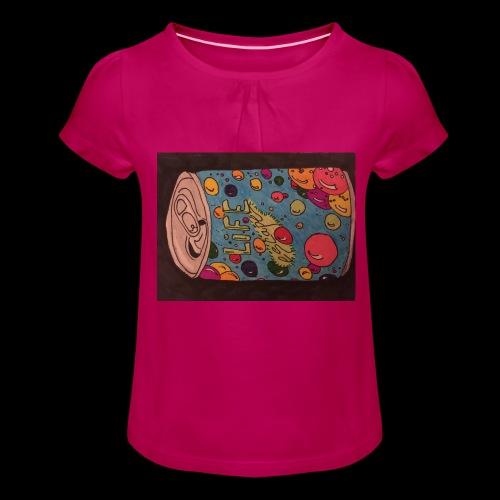 7AABC614 53CA 4156 B765 D9FBF5B8E496 - Pige T-shirt med flæser