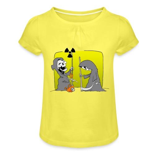 Nuclear Progress - Girl's T-Shirt with Ruffles