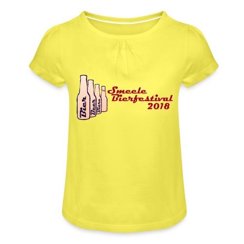 Smeele Bierfestival 2018 - Meisjes-T-shirt met plooien