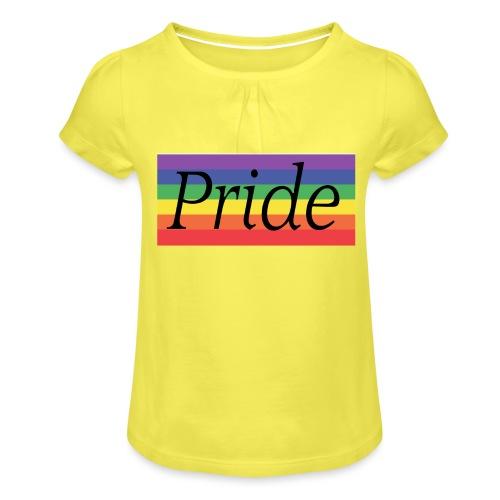 Pride | Regenbogen | LGBT - Mädchen-T-Shirt mit Raffungen