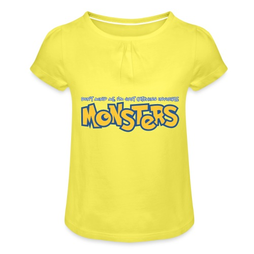 Monsters - Girl's T-Shirt with Ruffles