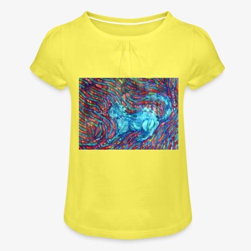 Kotek - Koszulka dziewczęca z marszczeniami